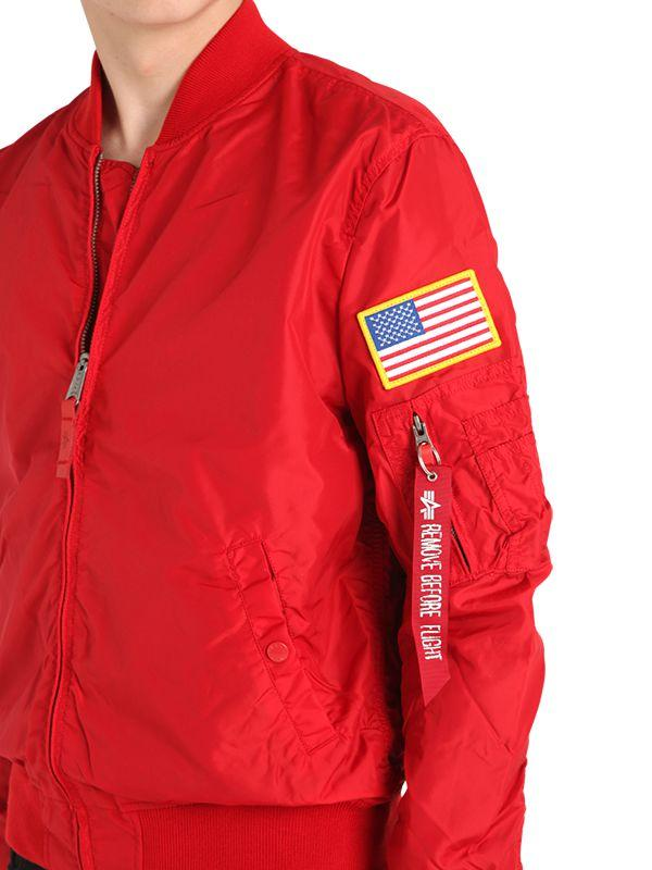 38653374c Alpha Industries Ma-1 Tt Nasa Reversible Bomber Jacket in Red for ...