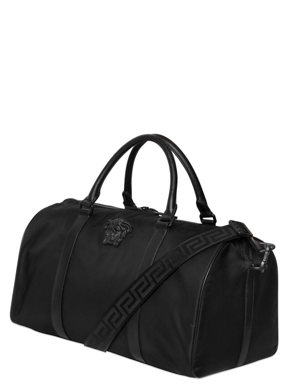 f0c8c93e1df Lyst - Versace Medusa Nylon Duffle Bag in Black for Men