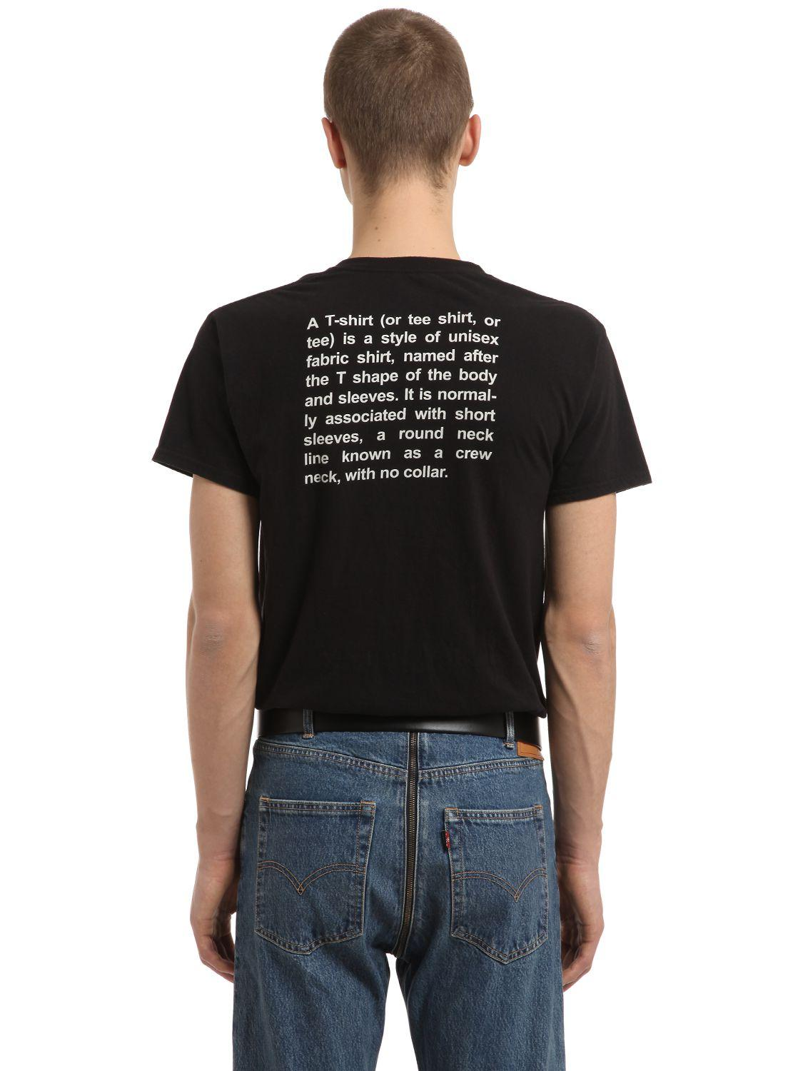 Vetements Hanes Printed Jersey T Shirt In Black For Men Lyst