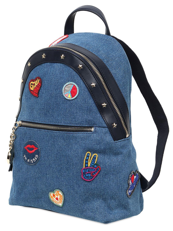 lyst tommy hilfiger gigi hadid rucksack in blue. Black Bedroom Furniture Sets. Home Design Ideas