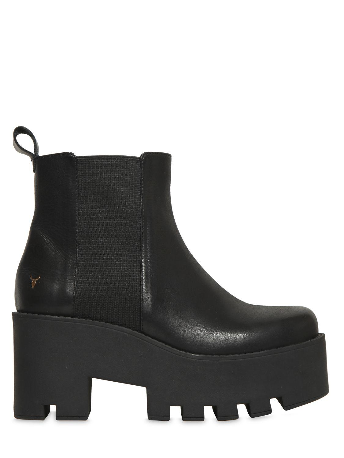 Windsor 80MM ALIEN LEATHER ANKLE BOOTS QlY8j
