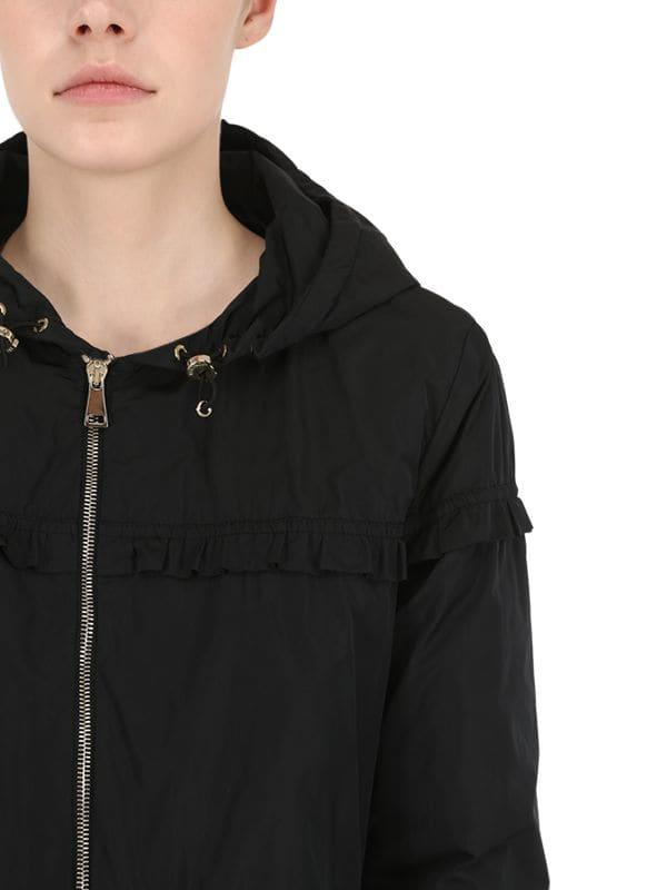 68ab95f5cdc9 Moncler Luxembourg Nylon Down Jacket in Black - Lyst