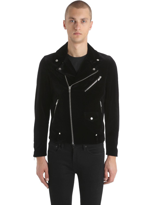 f76edfcbda The Kooples Velvet Biker Jacket in Black for Men - Lyst
