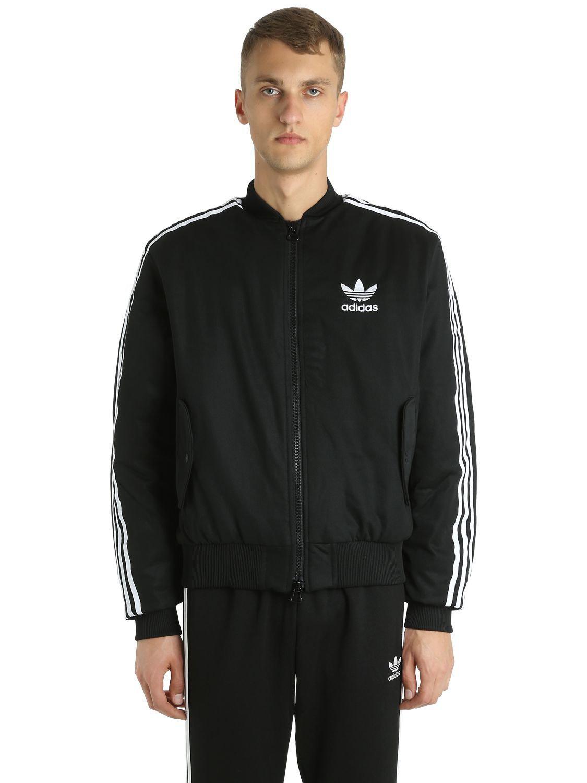 lyst adidas originali ma1 giacca imbottita in nero per gli uomini.