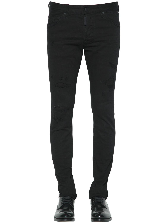 0e4d7590f9f DSquared² 16.5cm Cool Guy Cotton Denim Jeans in Black for Men - Lyst