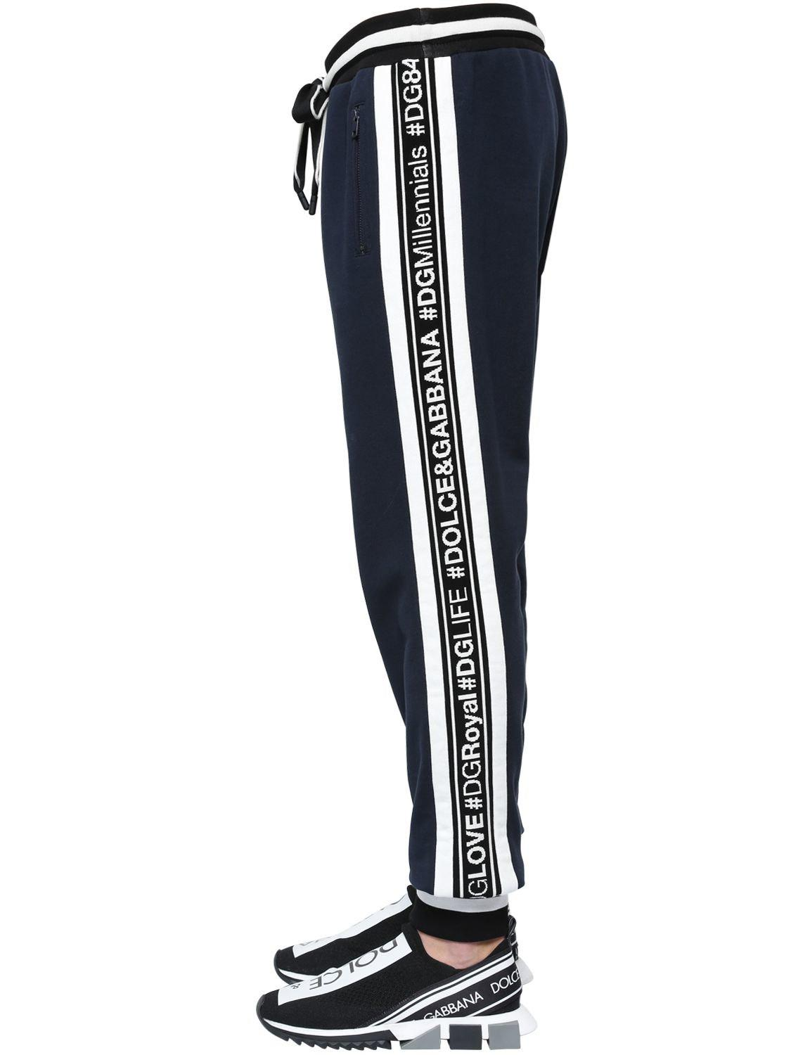478ee8f48aaac Lyst - Dolce   Gabbana Hashtags Cotton Sweatpants in Blue for Men