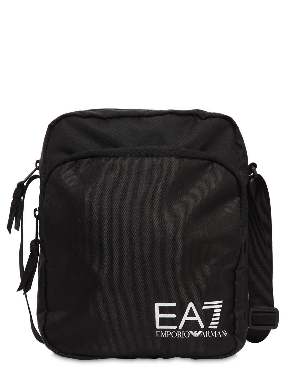 c717fde57b EA7 Train Prime Nylon Pouch Bag in Black for Men - Lyst
