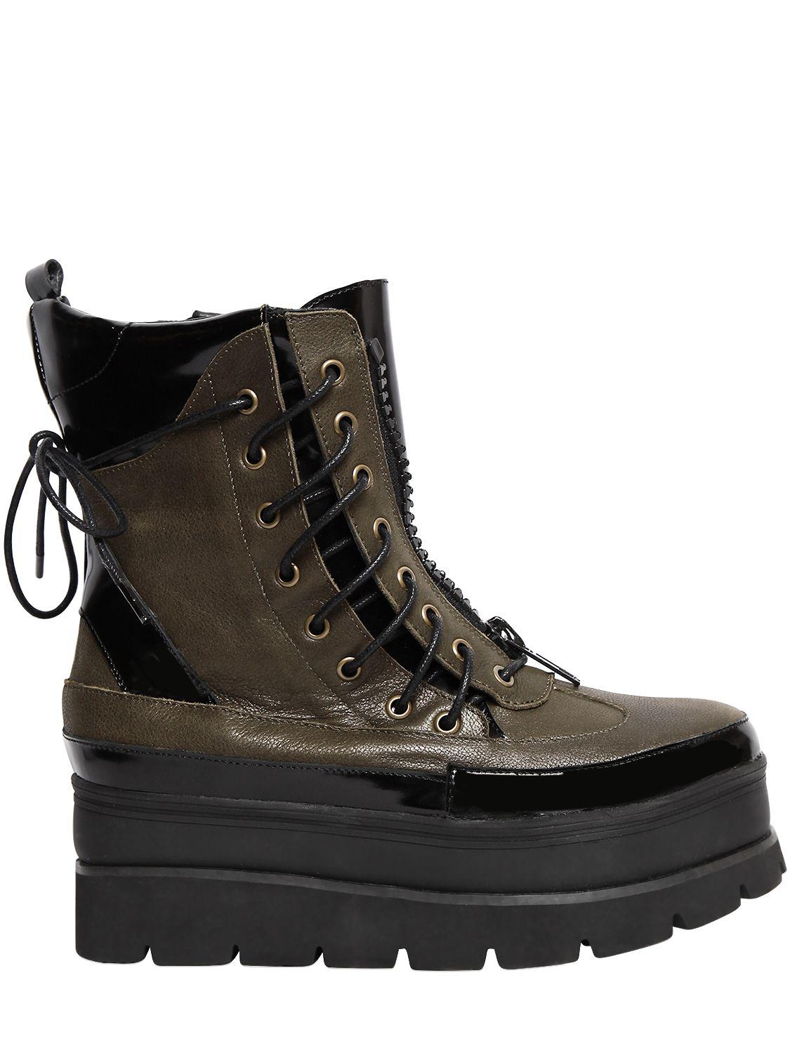 Jeffrey Campbell 40MM ANDOVER LACE UP LEATHER BOOTS P1c75Hart