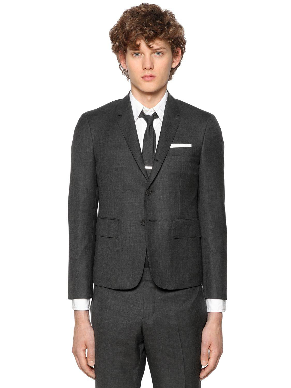 ca7545a4ea11 Lyst - Thom Browne Skinny Fit Light Wool Gabardine Suit in Gray for Men -  Save 40%