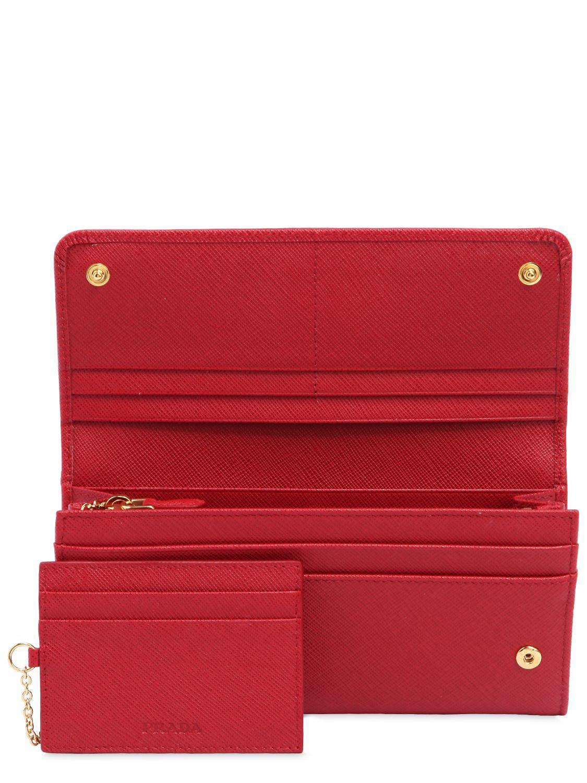 6787d71de90d Lyst - Prada Wallet Women in Red