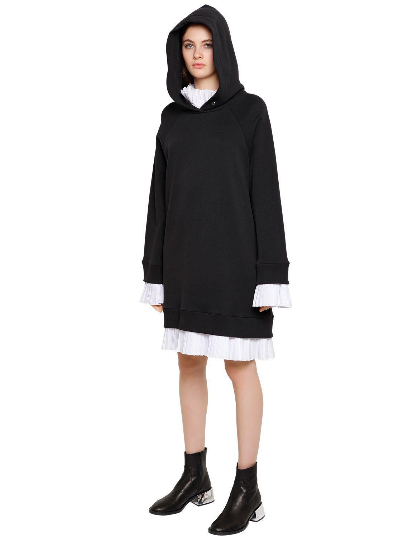Black Basic Cotton Sweatshirt Dress Maison Martin Margiela XJZk7Bh0H