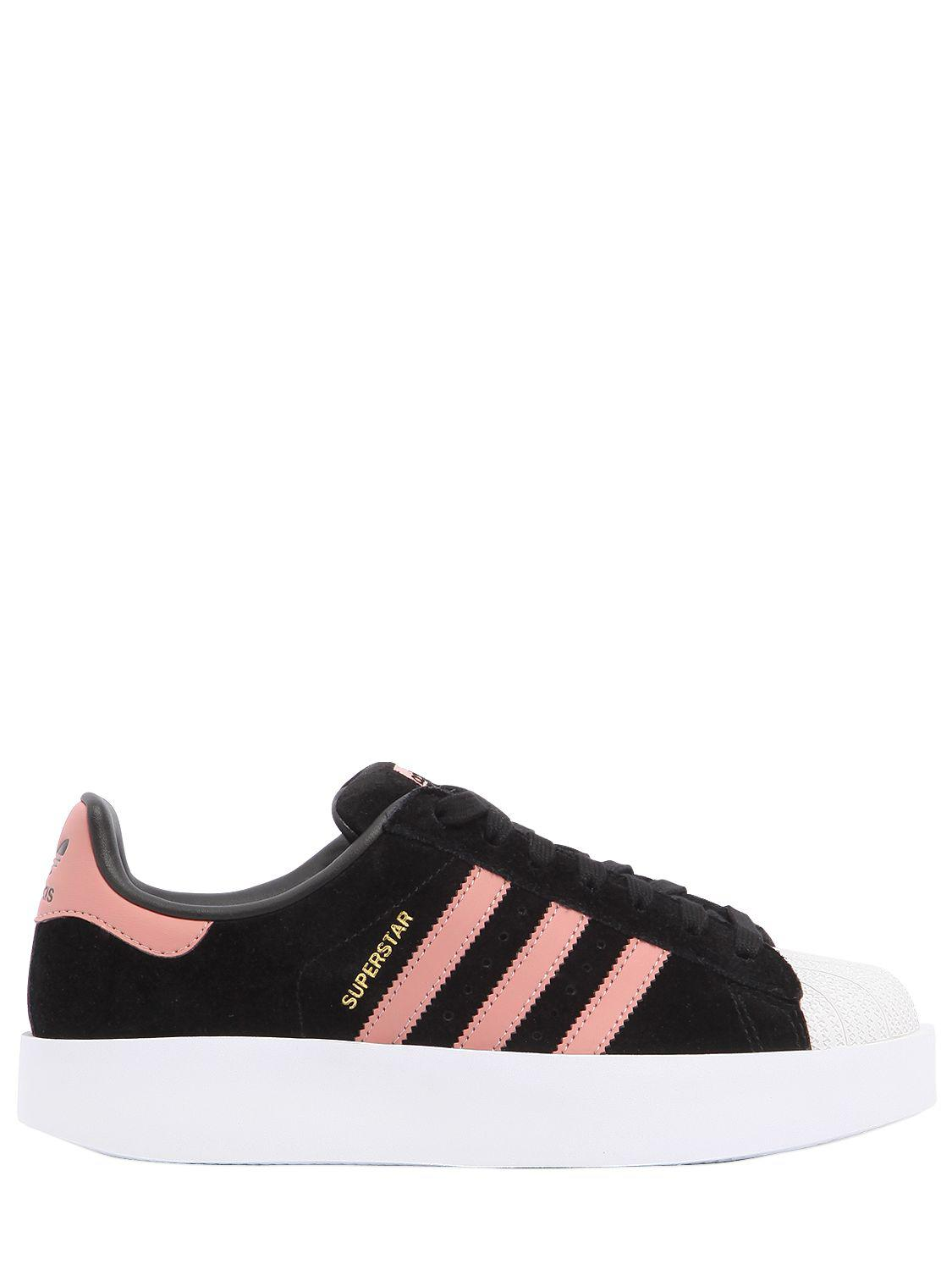 eaab2aed17fd Adidas Originals Superstar Bold Leather Sneakers in Black - Lyst