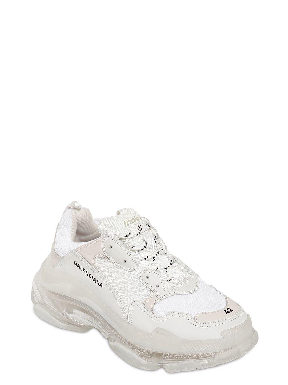 5ba7dda34e49f Lyst - Balenciaga Triple S Bubble Sole Sneakers in White for Men
