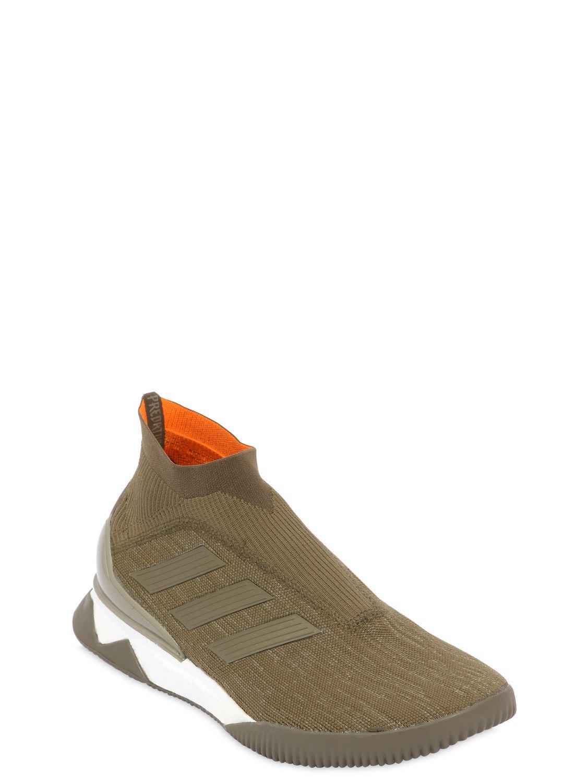 the best attitude bd5b9 fa77b Lyst - adidas Originals Predator Tango 18+ Tr Primeknit Sneakers in Green  for Men
