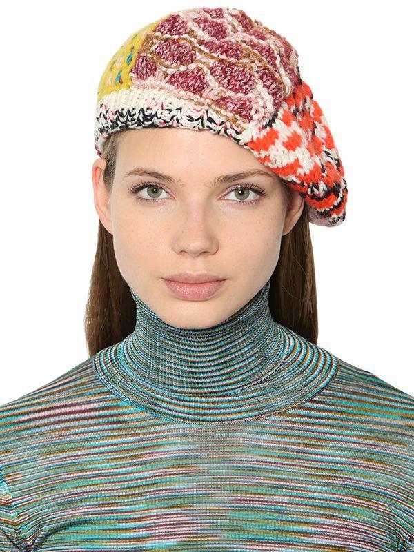 2e04d00e1b1 Missoni - Multicolor Alpaca Blend Knit Hat - Lyst. View fullscreen
