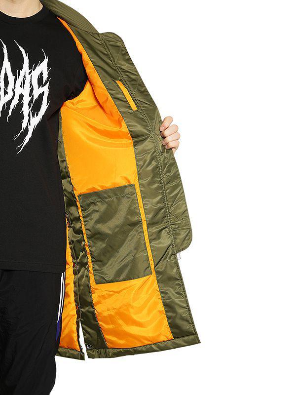 79c1a8c5eced Adidas Originals - Green Sst Hzo Nylon Bomber Coat for Men - Lyst. View  fullscreen