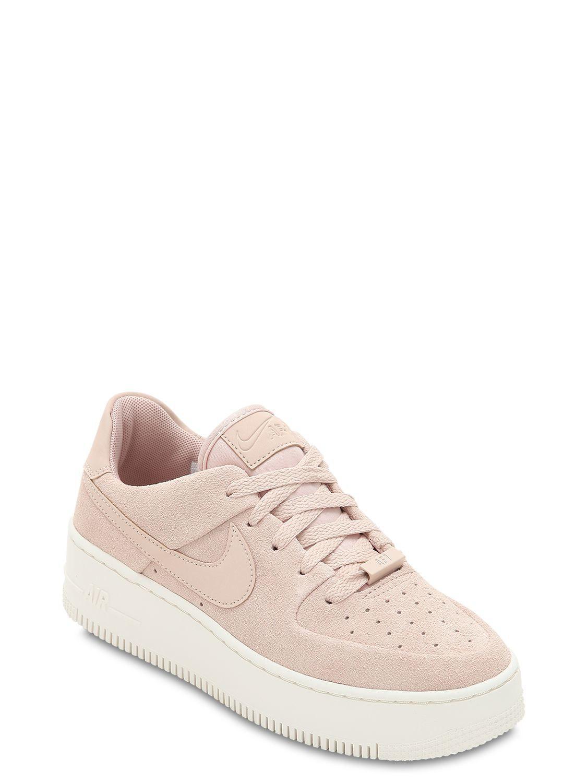 5dd84965908201 Lyst - Nike Air Force 1 Sage Xx Platform Sneakers in Pink