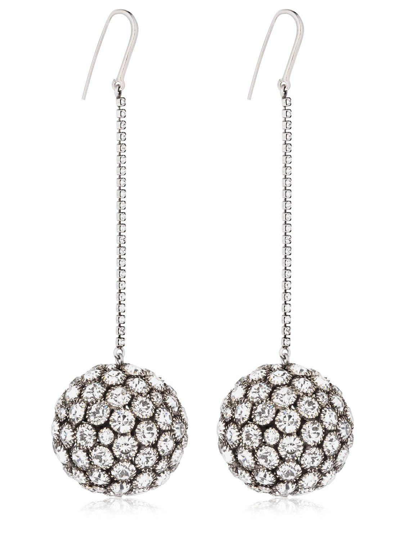 Isabel Marant Crystal wooden drop earrings v81zhUz