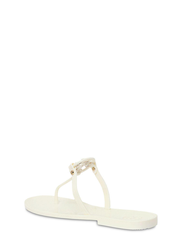 ea2b9d1f06e5a2 Tory Burch - White 10mm Mini Miller Jelly Flip Flops - Lyst. View fullscreen