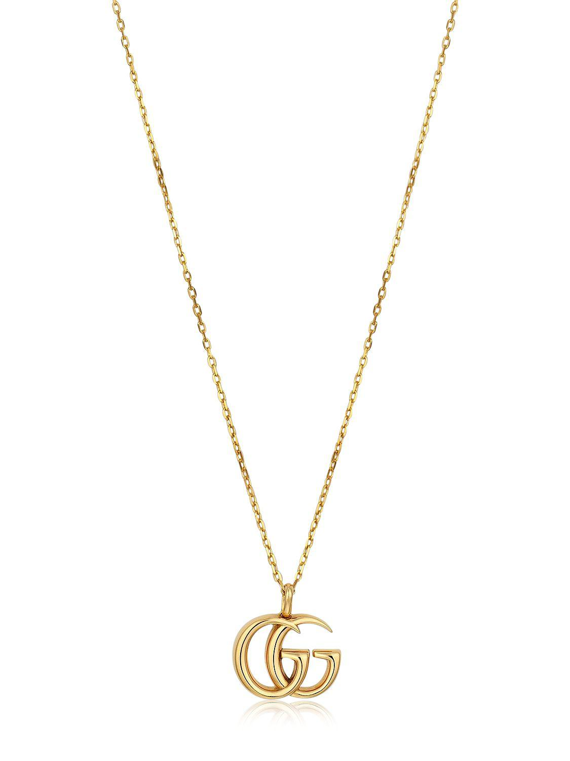 Gucci crystal Double G necklace - Metallic 85YvpgGaT