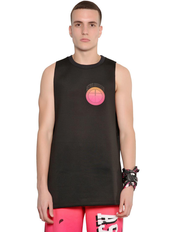 89d69822dccbd Astrid Andersen Oversized Neoprene Basketball Tank Top in Black for Men -  Lyst