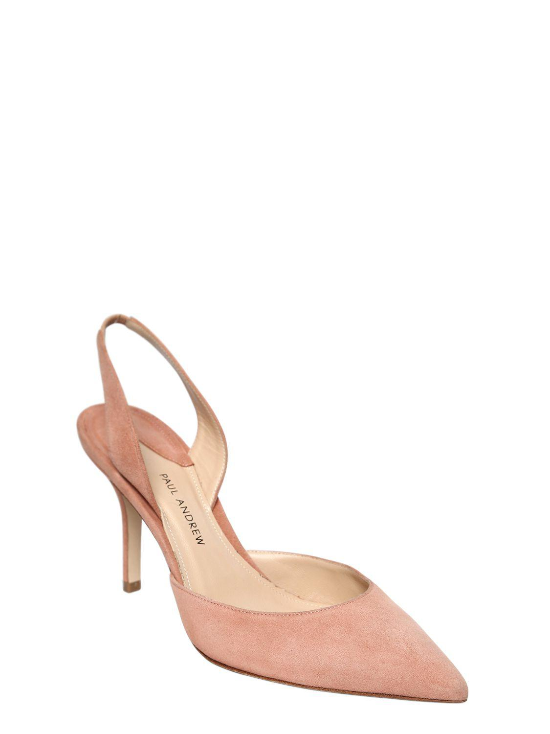 PAUL ANDREW 85MM RHEA SLING BACK SUEDE PUMPS XT6qhwj8mJ