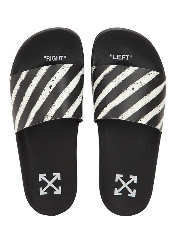 7cd4e182546d Lyst - Off-White c o Virgil Abloh Spray Stripes Slide Sandals in ...