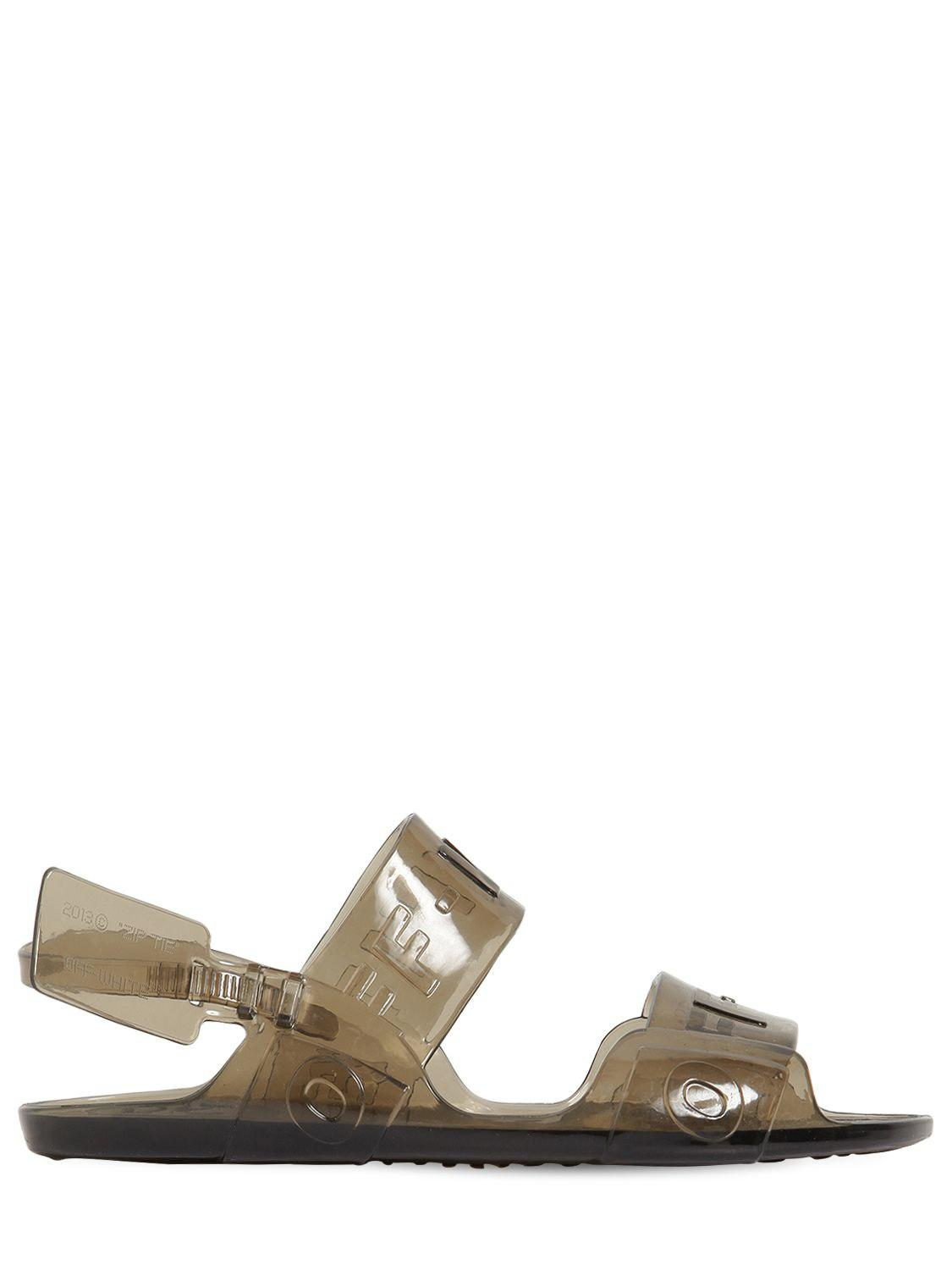 baa6ec66499 Lyst - Off-White c o Virgil Abloh Zip Tie Jelly Sandals Black in ...