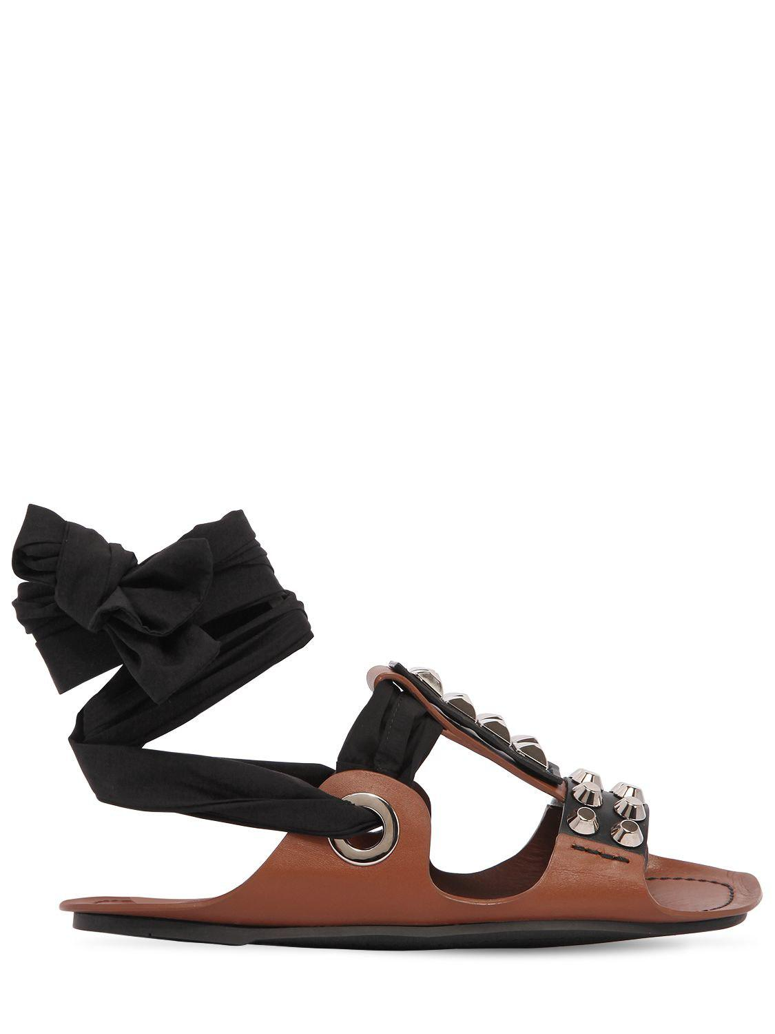 Prada Embossed Lace-Up Sandals best online clearance store cheap online factory outlet online newest cheap online sale pre order 0bLd45Iom