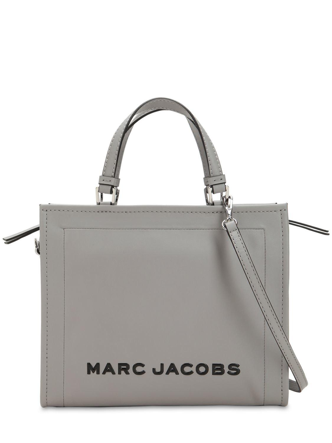 20f1ff919 Marc Jacobs The Box 29 Leather Shopper Bag in Gray - Lyst