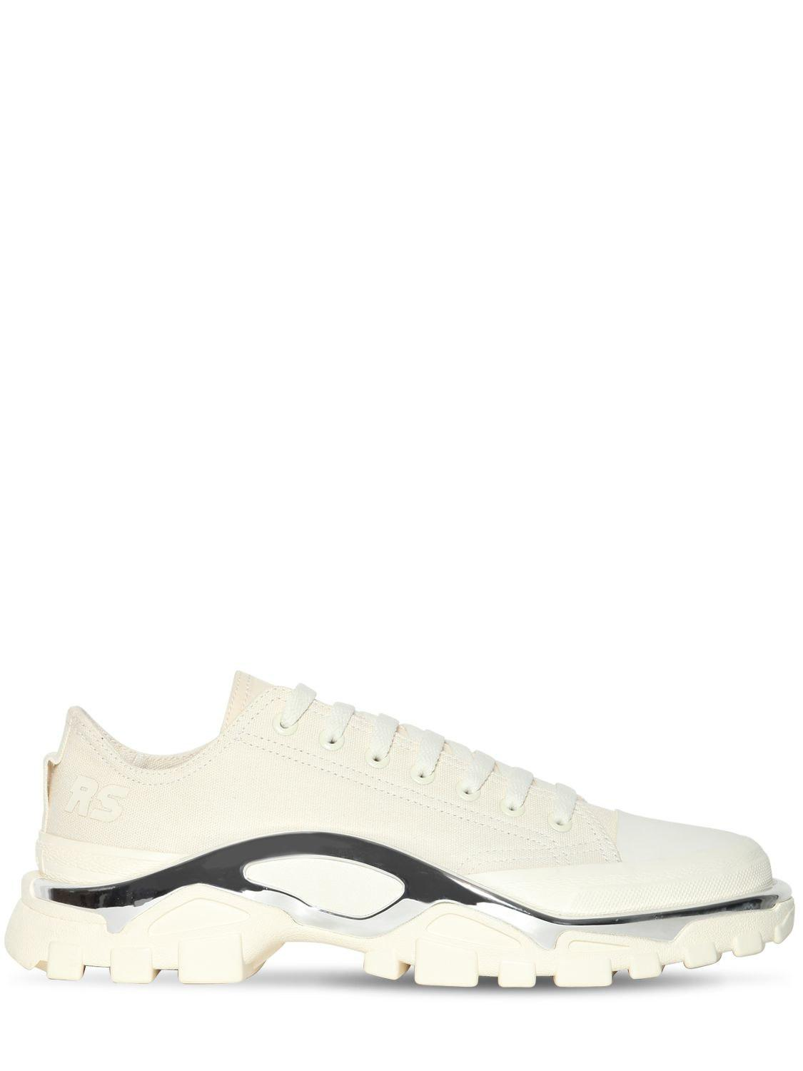 reputable site fda7c db39d adidas By Raf Simons. Mens White Rs Detroit Runner Sneakers