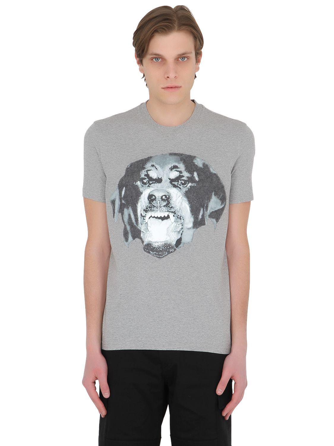 Lyst Givenchy Cuban Needle Punch Jersey T Shirt In Gray