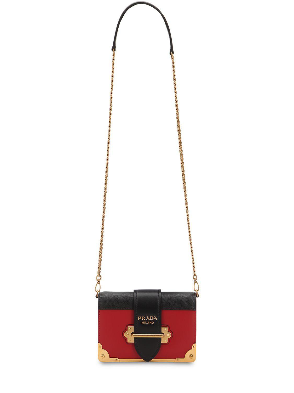 14e25256ab34 Prada - Multicolor Small Cahier Leather Shoulder Bag - Lyst. View fullscreen