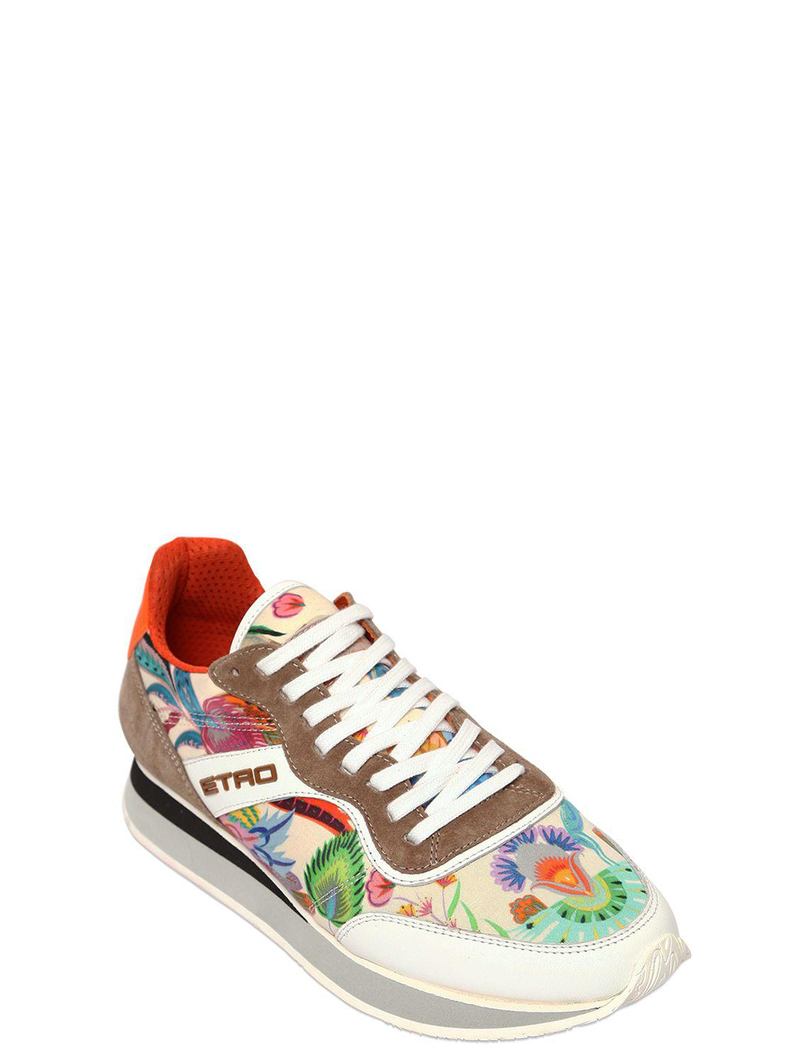 Etro 20MM PAISLEY SATIN RUNNING SNEAKERS g7D1lx5fR
