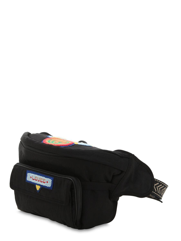 bb44f426b97794 Lyst - Gucci Nylon Logo Toweling Belt Pack in Black for Men