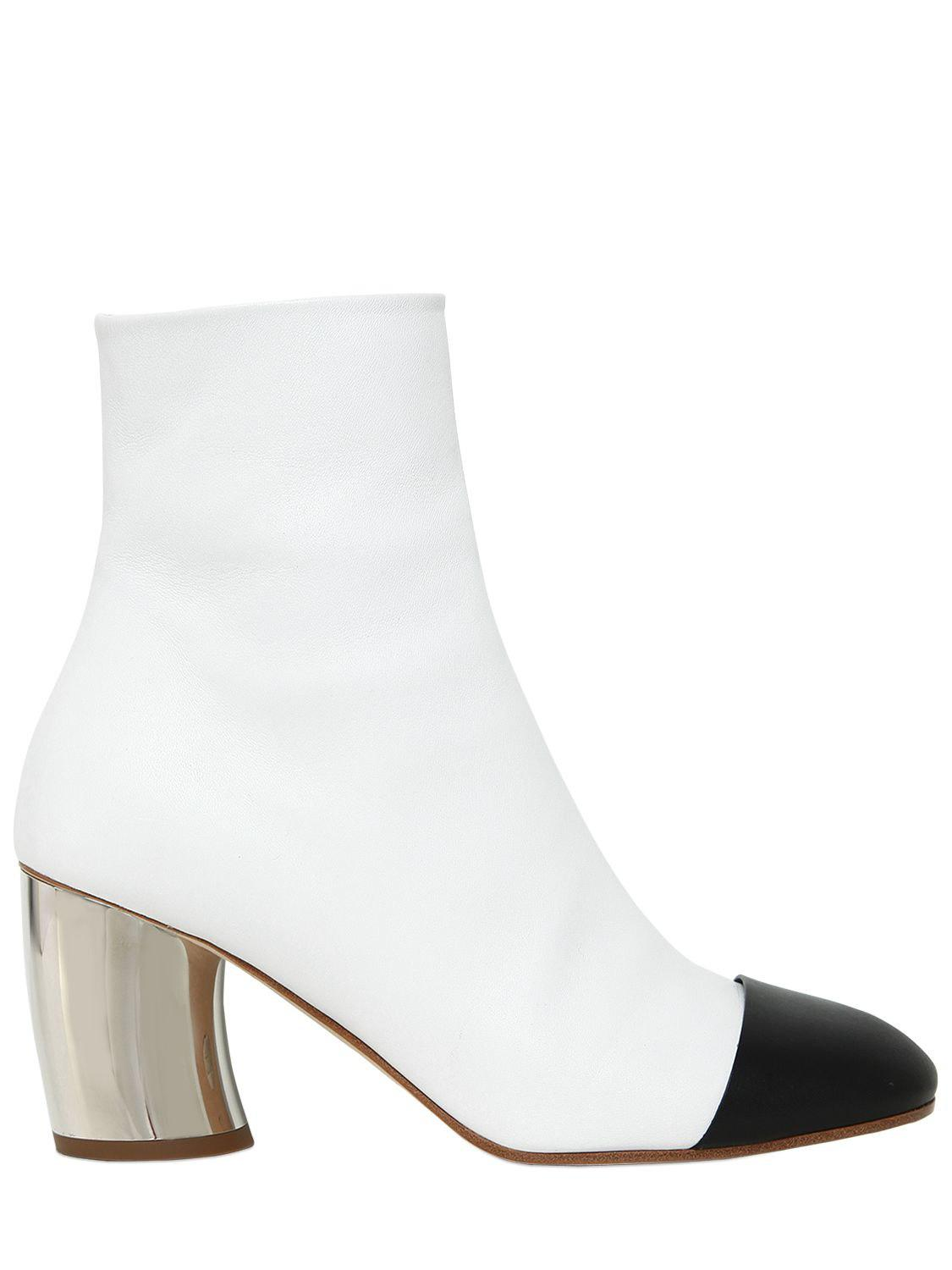 Proenza Schouler. Women's White 70mm Leather Ankle Boots