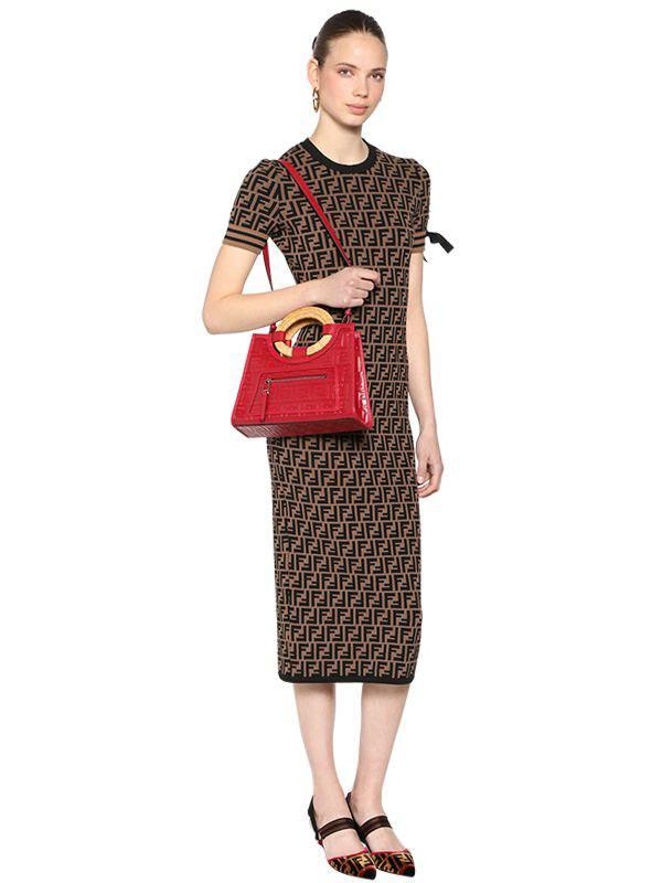 Fendi - Red Small Runaway Tote Bag - Lyst. View fullscreen 5837a0f6cfdab
