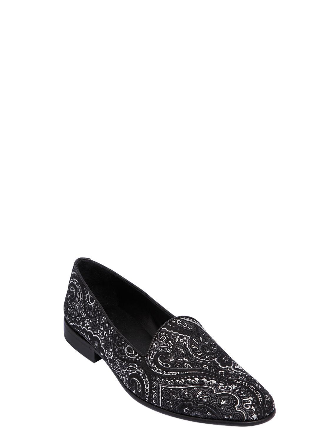 EtroPAISLEY SILK JACQUARD LOAFERS