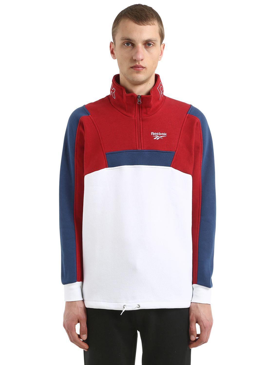 80e7d4fa5f5a2 Reebok Graphic Organic Cotton Sweatshirt in Red for Men - Lyst