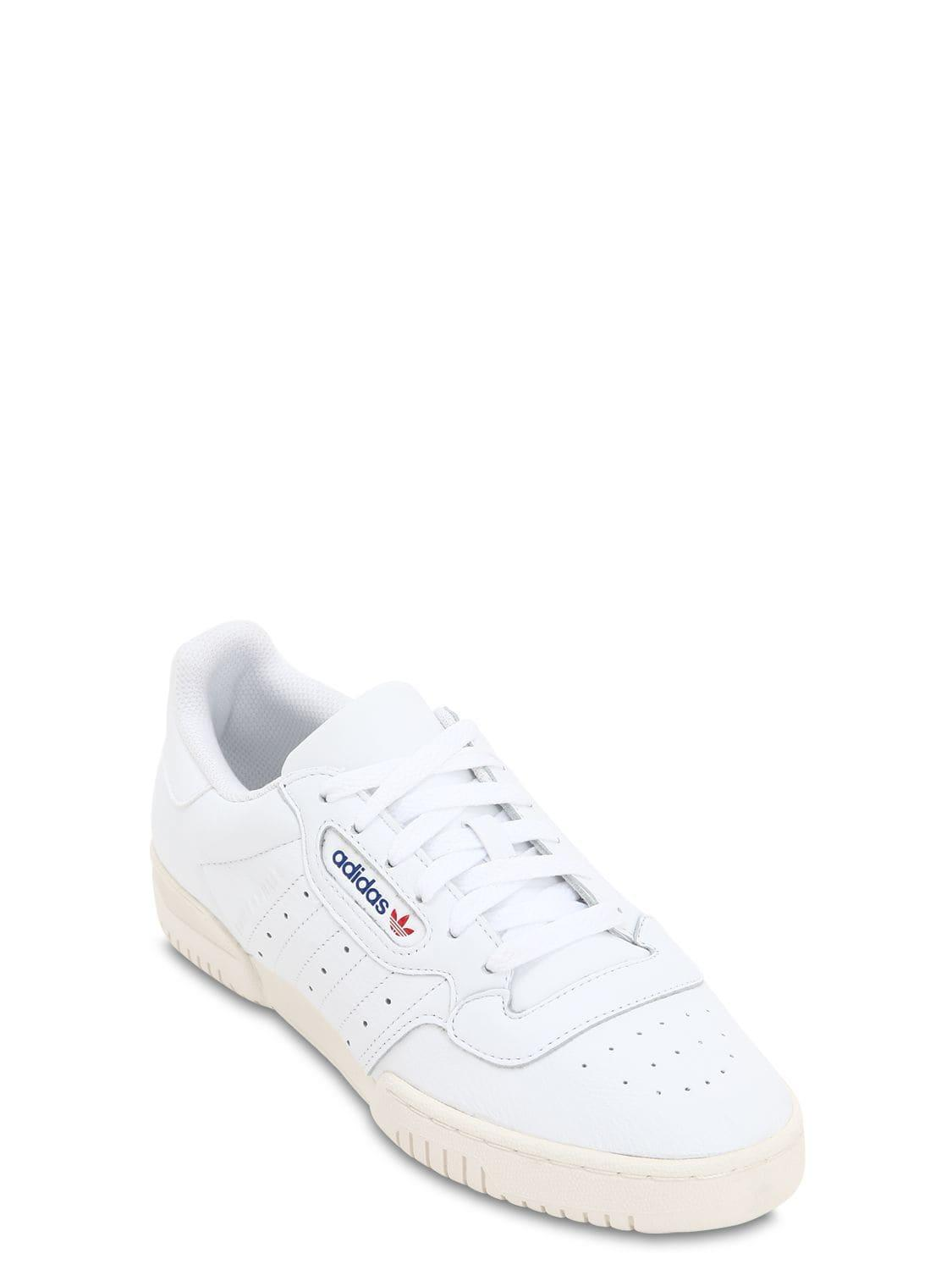 138c75c7284a2 Lyst - adidas Originals Powerphase Premium Leather Sneakers in White for Men