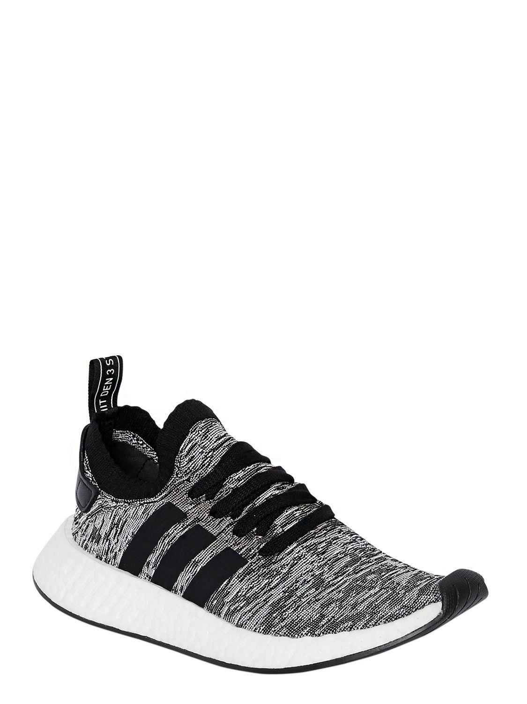 b418840ab Lyst - adidas Originals Nmd R2 Primeknit Sneakers in Black for Men