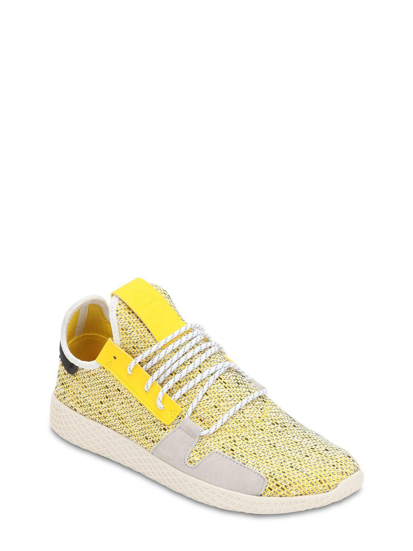 809339ede adidas Originals Afro Tennis Hu V2 Primeknit Sneakers in Yellow for Men -  Lyst