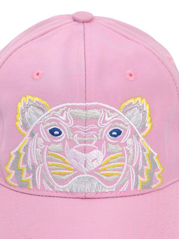 e780e17a459 Lyst - KENZO Tiger Embroidered Nylon Canvas Hat in Pink