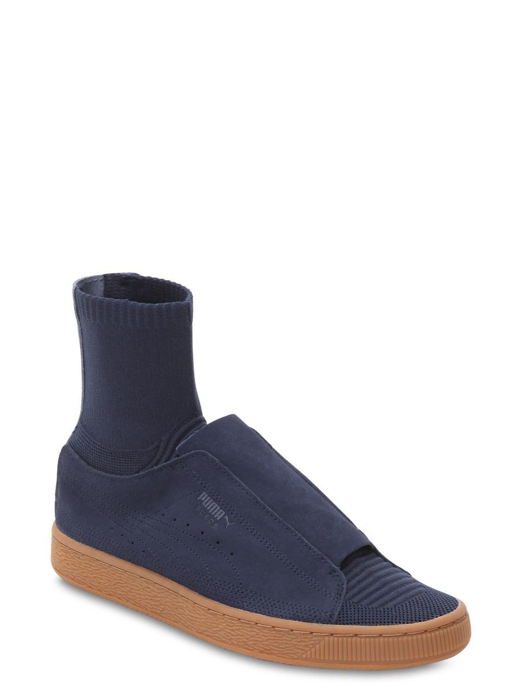 9596f035ba9f Puma Select - Blue Paul Stanley Suede Sneakers W  Sock for Men - Lyst. View  fullscreen