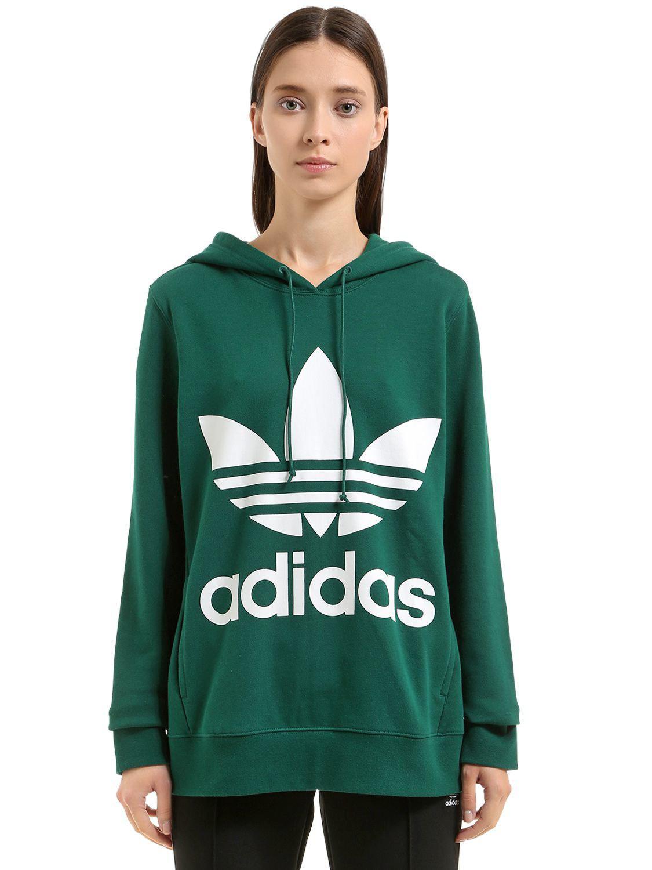 Capuche Shirt Adidas Coton Logo À Avec En Lyst Sweat Originals q5xpawt
