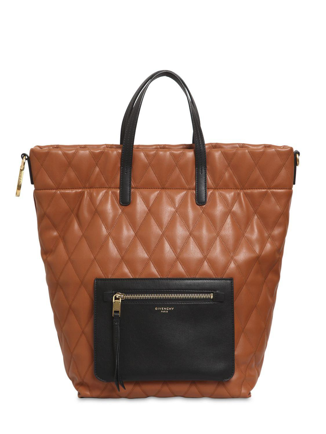 d4976c8d43a5 Lyst - Givenchy Small Duo Quilted Backpack in Brown