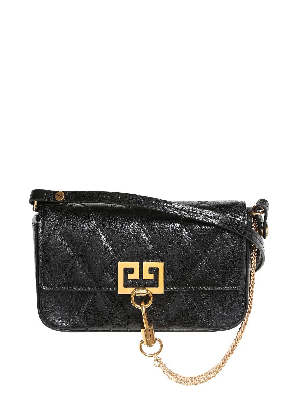 Lyst - Givenchy Mini Pocket Quilted Leather Shoulder Bag in Black c9515b1b7d74d