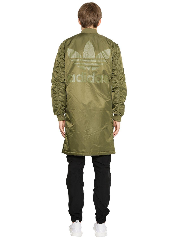 e577c0275000 Lyst - adidas Originals Sst Hzo Nylon Bomber Coat in Green for Men