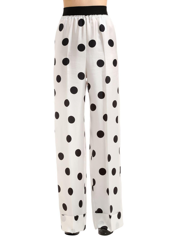 Polka-dot silk trousers Maison Martin Margiela jEd6w