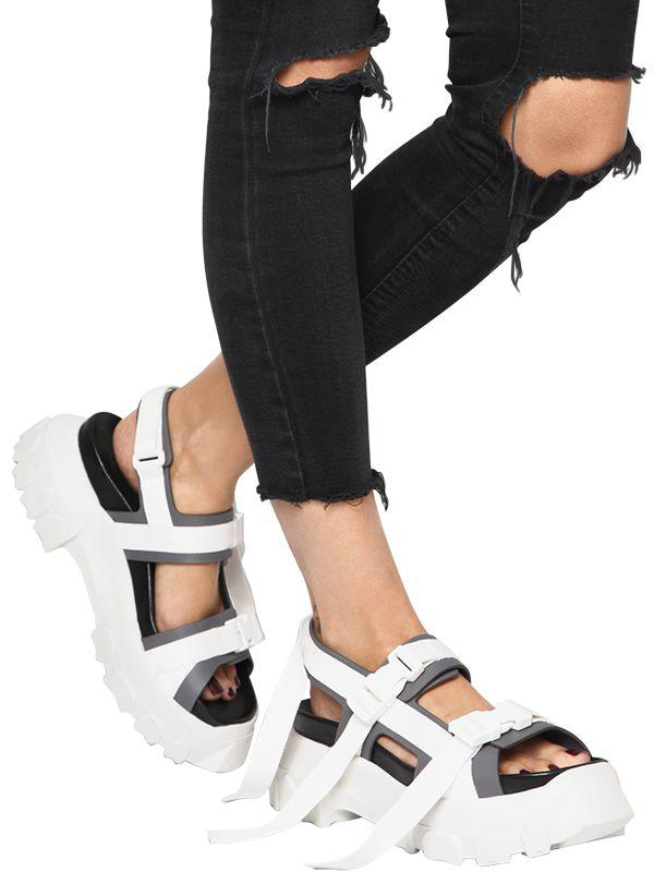 5425c9309d86 Rick Owens 60mm Hiking Leather Sandals - Lyst